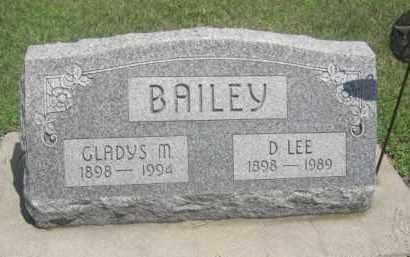 BAILEY, GLADYS M. - Merrick County, Nebraska | GLADYS M. BAILEY - Nebraska Gravestone Photos