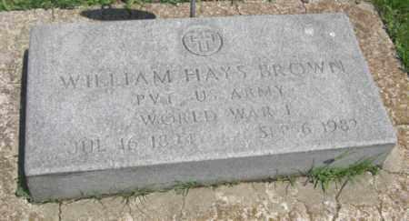 BROWN, WILLIAM HAYS - Merrick County, Nebraska   WILLIAM HAYS BROWN - Nebraska Gravestone Photos