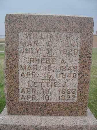 CRITES, RHEBE A. - Merrick County, Nebraska | RHEBE A. CRITES - Nebraska Gravestone Photos