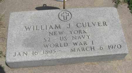 CULVER, WILLIAM J. - Merrick County, Nebraska | WILLIAM J. CULVER - Nebraska Gravestone Photos