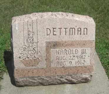 DETTMAN, HAROLD W. - Merrick County, Nebraska | HAROLD W. DETTMAN - Nebraska Gravestone Photos