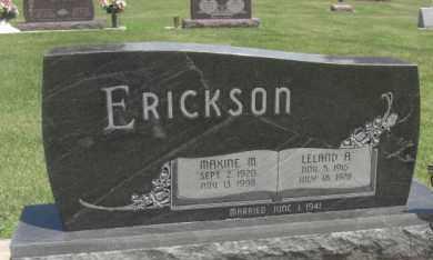 ERICKSON, LELAND A. - Merrick County, Nebraska   LELAND A. ERICKSON - Nebraska Gravestone Photos