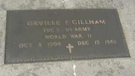 GILLHAM, ORVILLE F. - Merrick County, Nebraska | ORVILLE F. GILLHAM - Nebraska Gravestone Photos