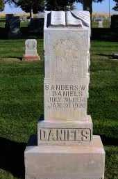 DANIELS, SANDERS W. - Morrill County, Nebraska | SANDERS W. DANIELS - Nebraska Gravestone Photos