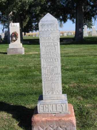 JUDD ECKLEY, GRACE M. - Morrill County, Nebraska | GRACE M. JUDD ECKLEY - Nebraska Gravestone Photos