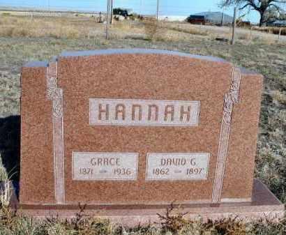 HANNAH, DAVID G. - Morrill County, Nebraska | DAVID G. HANNAH - Nebraska Gravestone Photos