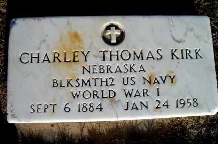 KIRK, CHARLEY THOMAS - Morrill County, Nebraska | CHARLEY THOMAS KIRK - Nebraska Gravestone Photos