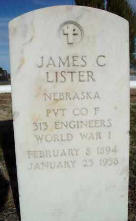 LISTER, JAMES C. - Morrill County, Nebraska   JAMES C. LISTER - Nebraska Gravestone Photos
