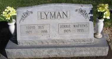 MATHEWS LYMAN, JENNIE ELLA - Morrill County, Nebraska   JENNIE ELLA MATHEWS LYMAN - Nebraska Gravestone Photos