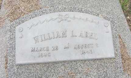 ABEL, WILLIAM L. - Nance County, Nebraska | WILLIAM L. ABEL - Nebraska Gravestone Photos