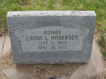 ANDERSEN, EMMA L. - Nance County, Nebraska   EMMA L. ANDERSEN - Nebraska Gravestone Photos