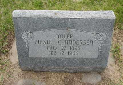 ANDERSEN, WESTEL C. - Nance County, Nebraska | WESTEL C. ANDERSEN - Nebraska Gravestone Photos