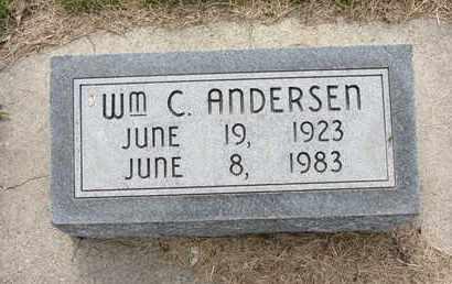 ANDERSEN, WILLIAM C. - Nance County, Nebraska | WILLIAM C. ANDERSEN - Nebraska Gravestone Photos