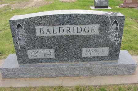 BALDRIDGE, FANNIE E. - Nance County, Nebraska   FANNIE E. BALDRIDGE - Nebraska Gravestone Photos