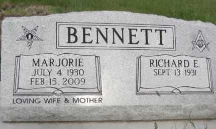 BENNETT, RICHARD E. - Nance County, Nebraska | RICHARD E. BENNETT - Nebraska Gravestone Photos