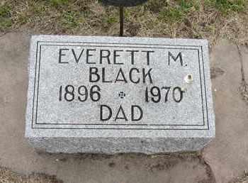 BLACK, EVERETT M. - Nance County, Nebraska | EVERETT M. BLACK - Nebraska Gravestone Photos