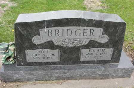 BRIDGER, EULALIA - Nance County, Nebraska | EULALIA BRIDGER - Nebraska Gravestone Photos