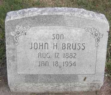 BRUSS, JOHN H. - Nance County, Nebraska   JOHN H. BRUSS - Nebraska Gravestone Photos