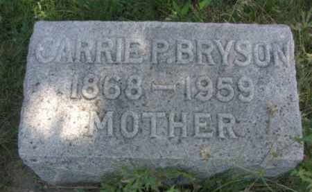 BRYSON, CARRIE P. - Nance County, Nebraska | CARRIE P. BRYSON - Nebraska Gravestone Photos