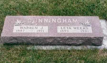 CUNNINGHAM, WARREN J. - Nance County, Nebraska | WARREN J. CUNNINGHAM - Nebraska Gravestone Photos
