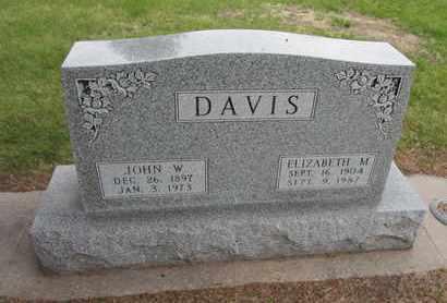 DAVIS, JOHN W. - Nance County, Nebraska | JOHN W. DAVIS - Nebraska Gravestone Photos