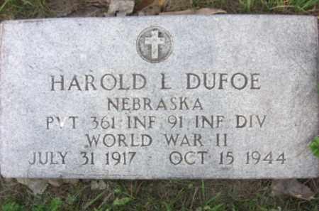 DUFOE, HAROLD L. - Nance County, Nebraska   HAROLD L. DUFOE - Nebraska Gravestone Photos
