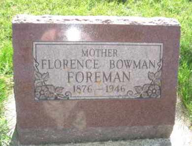 FOREMAN, FLORENCE - Nance County, Nebraska | FLORENCE FOREMAN - Nebraska Gravestone Photos