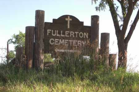 *FULLERTON CEMETERY, HIGHWAY SIGN - Nance County, Nebraska | HIGHWAY SIGN *FULLERTON CEMETERY - Nebraska Gravestone Photos