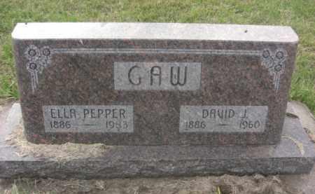 GAW, DAVID J. - Nance County, Nebraska | DAVID J. GAW - Nebraska Gravestone Photos
