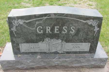 STROTMAN GRESS, ANN - Nance County, Nebraska   ANN STROTMAN GRESS - Nebraska Gravestone Photos