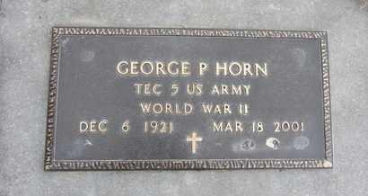 HORN, GEORGE P. - Nance County, Nebraska | GEORGE P. HORN - Nebraska Gravestone Photos
