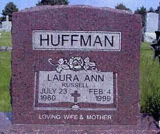 RUSSELL HUFFMAN, LAURA ANN - Nance County, Nebraska | LAURA ANN RUSSELL HUFFMAN - Nebraska Gravestone Photos