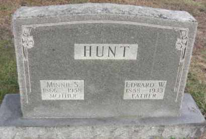 HUNT, MINNIE S. - Nance County, Nebraska   MINNIE S. HUNT - Nebraska Gravestone Photos