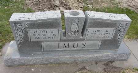 IMUS, LORA M. - Nance County, Nebraska   LORA M. IMUS - Nebraska Gravestone Photos