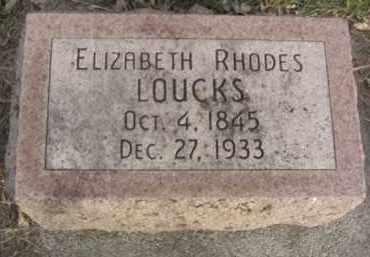LOUCKS, ELIZABETH - Nance County, Nebraska | ELIZABETH LOUCKS - Nebraska Gravestone Photos