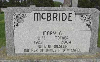 MCBRIDE, MARY G. - Nance County, Nebraska | MARY G. MCBRIDE - Nebraska Gravestone Photos