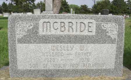 MCBRIDE, WESLEY WAYNE - Nance County, Nebraska | WESLEY WAYNE MCBRIDE - Nebraska Gravestone Photos