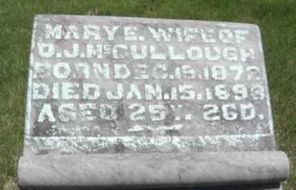 MCCULLOUGH, MARY E. - Nance County, Nebraska | MARY E. MCCULLOUGH - Nebraska Gravestone Photos