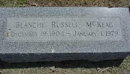 MCKEAG, BLANCHE - Nance County, Nebraska | BLANCHE MCKEAG - Nebraska Gravestone Photos