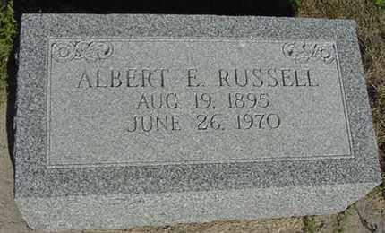 RUSSELL, ALBERT EDWIN - Nance County, Nebraska | ALBERT EDWIN RUSSELL - Nebraska Gravestone Photos