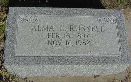 RUSSELL, ALMA EMILEE - Nance County, Nebraska | ALMA EMILEE RUSSELL - Nebraska Gravestone Photos
