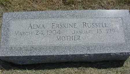 RUSSELL, ALMA M. - Nance County, Nebraska | ALMA M. RUSSELL - Nebraska Gravestone Photos