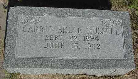 RUSSELL, CARRIE BELLE - Nance County, Nebraska | CARRIE BELLE RUSSELL - Nebraska Gravestone Photos