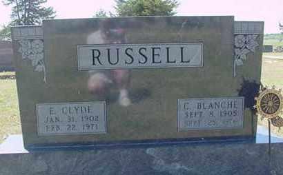 RUSSELL, E. CLYDE - Nance County, Nebraska | E. CLYDE RUSSELL - Nebraska Gravestone Photos
