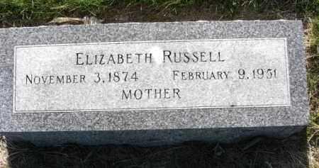 RUSSELL, ELIZABETH - Nance County, Nebraska | ELIZABETH RUSSELL - Nebraska Gravestone Photos