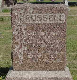 RUSSELL, CATHERINE - Nance County, Nebraska | CATHERINE RUSSELL - Nebraska Gravestone Photos