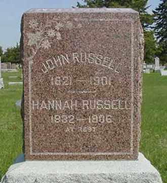 RUSSELL, HANNAH - Nance County, Nebraska | HANNAH RUSSELL - Nebraska Gravestone Photos