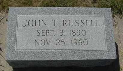 RUSSELL, JOHN THOMAS - Nance County, Nebraska | JOHN THOMAS RUSSELL - Nebraska Gravestone Photos
