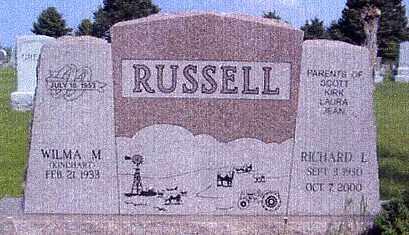 RUSSELL, WILMA M. - Nance County, Nebraska | WILMA M. RUSSELL - Nebraska Gravestone Photos
