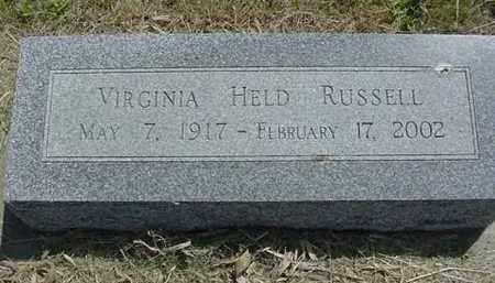 RUSSELL, VIRGINIA EVELYN - Nance County, Nebraska | VIRGINIA EVELYN RUSSELL - Nebraska Gravestone Photos